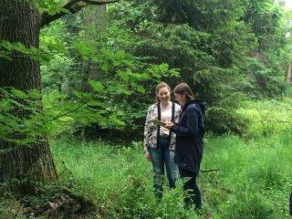 Der Bio-Leistungskurs im Lernort Wald. Foto: SMMP/Schumacher