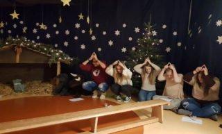Sichtlich viel Spaß hatten die Studierenden der FSE 12 bei der Durchführung des Gottesdienstes. Foto: SMMP/Schweda