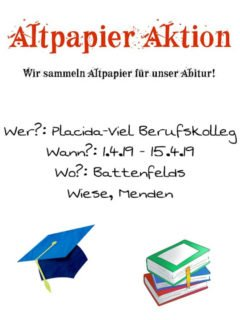 Direkt an der Schule und auf der Battenfeld-Wiese wird Altpapier gesammelt. Foto: AHR 13b1
