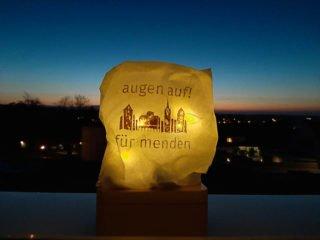 """Auch am """"Placida"""" leuchteten abends die Lichtertüten. Foto: SMMP/Hofbauer"""