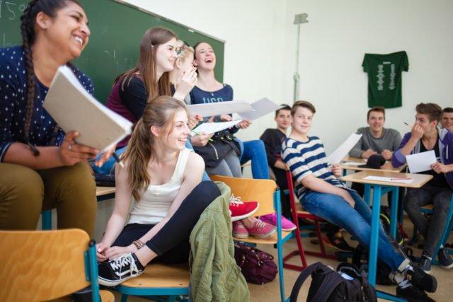 Unterricht am Placida-Viel-Berufskolleg - wenn mal gerade nicht Pandemie ist. (Foto: SMMP/Beer)